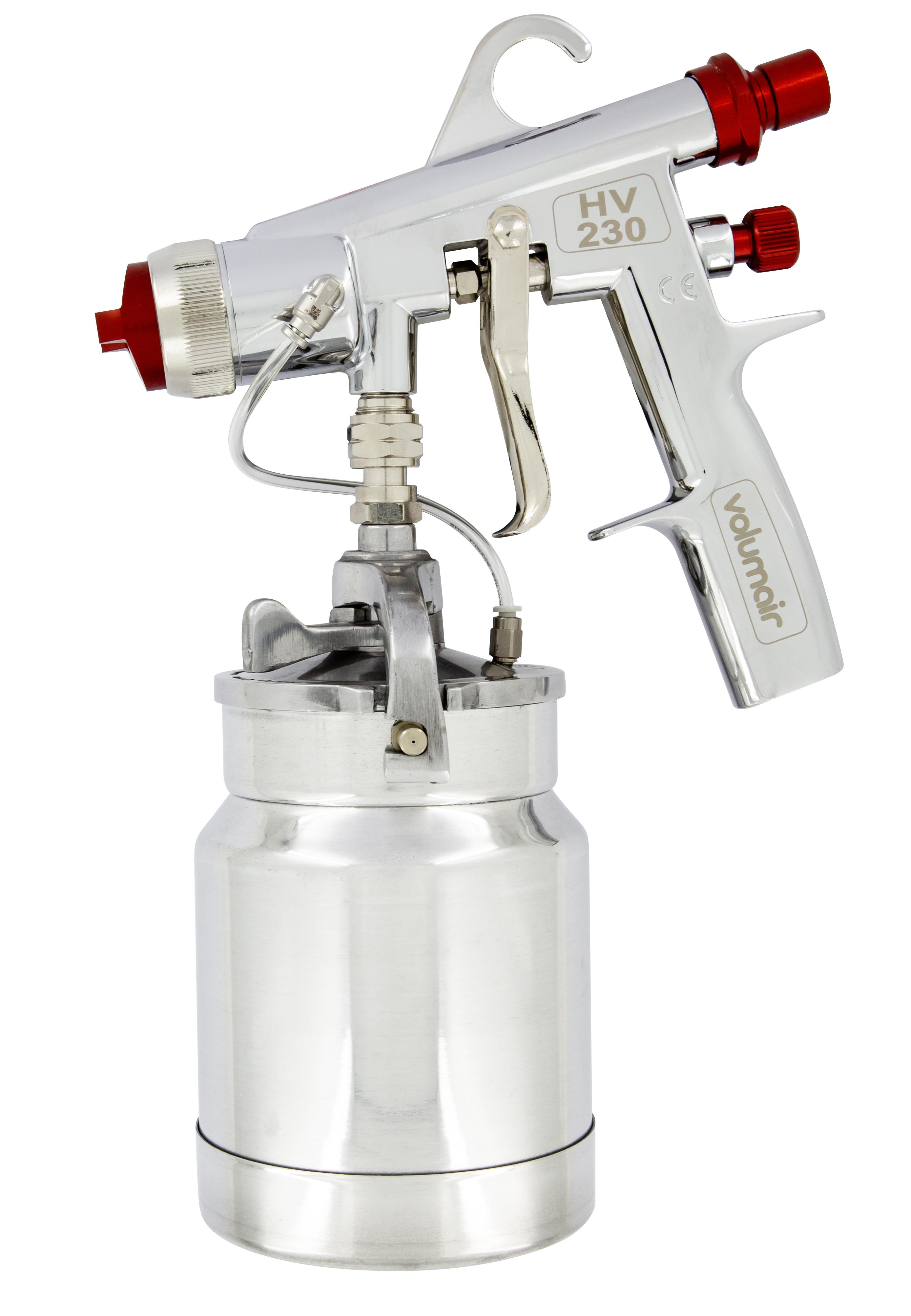 pistolet peinture godet 1 litre hv230 pour turbine. Black Bedroom Furniture Sets. Home Design Ideas